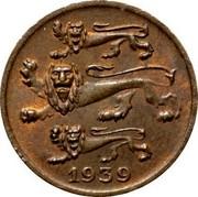 Estonia Sent 1939 KM# 19.2 Reform Coinage 1939 coin obverse