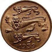 Estonia Sent 1939 KM# 19.1 Reform Coinage 1939 coin obverse