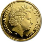 Australia Ten Dollars Explorers First Sightings Kangaroo 2014 ELIZABETH II AUSTRALIA 2014 IRB coin obverse