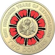 Australia Two Dollars 100 Years Repatriation 2019  ONE HUNDRED YEARS OF REPATRIATION TWO DOLLARS C coin reverse