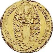 Malta Zecchino Antoine de Paule (1623-1636) KM# 18 CONTRA OSTES TVO∙ DAMIEIVI TVTEM coin reverse