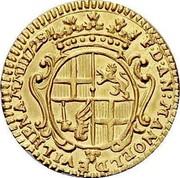 Malta Zecchino Antonio Manoel de Vilhena 1725 KM# 189 F∙D∙AN:MANOEL DE VILHENA M M H 1725 coin obverse