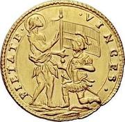 Malta Zecchino Antonio Manoel de Vilhena 1725 KM# 189 PIETATE∙ ∙VINCES∙ coin reverse