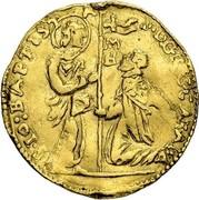 Malta Zecchino Gregorio Carafa (1680-1690) KM# 20 F∙D∙GREG∙CARAFA S∙IO∙BAPTISTA coin obverse