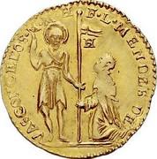 Malta Zecchino Luis Mendes de Vasconcellos (1622-1623) KM# 17 F∙L∙MENDES DE VASCONCELOS∙M∙M∙H coin obverse