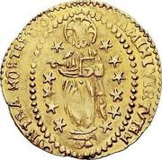 Malta Zecchino Luis Mendes de Vasconcellos (1622-1623) KM# 17 DAMIHI VIRTVETEM CONTRA MOSTESTVOS coin reverse