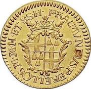 Malta Zecchino Ramon Perellos y Roccaful 1717 KM# 133 F∙RAIMVNDVSPERELLOS M∙M∙H∙ET S∙S∙H∙ coin obverse