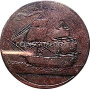 Canada 1/2 Penny (North American Token) COMMERCE coin reverse