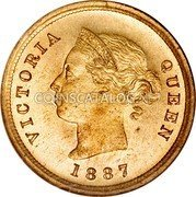 Cyprus 1/4 Piastre 1887 Proof KM# 1.1 Piastre Coinage coin obverse