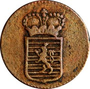 Luxembourg 1/8 Sol Maria Theresa 1775 (b) KM# 5 coin obverse