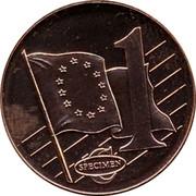 Malta 1 C Jean Parisot de la Valette 2003 UNC 1 C SPECIMEN coin reverse