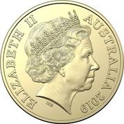 Australia 1 Dollar Eureka stockade 2019 ELIZABETH II AUSTRALIA 2019 IRB 1 DOLLAR coin obverse