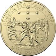 Australia 1 Dollar Eureka stockade 2019 EUREKA STOCKADE - 1854 ONE DOLLAR coin reverse