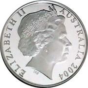 Australia 1 Dollar Masterpiecess in Silver 2004 KM# 733.1a ELIZABETH II AUSTRALIA 2004 coin obverse