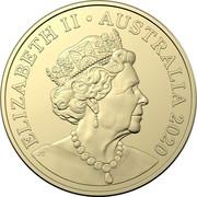 Australia 1 Dollar Mob of Roos (6th portrait) 2019 Brisbane Cooktown Orchid Privymark ELIZABETH II AUSTRALIA 2019 JC coin obverse