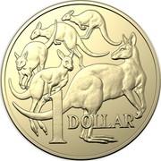 Australia 1 Dollar Mob of Roos (6th portrait) 2019 Brisbane Cooktown Orchid Privymark 1 DOLLAR coin reverse