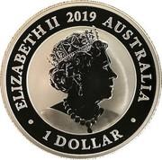 Australia 1 Dollar The Australian Silver Swan 2019 P BU ELIZABETH II 2019 AUSTRALIA JC 1 DOLLAR coin obverse