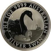 Australia 1 Dollar The Australian Silver Swan 2019 P BU THE 1 OZ 9999 AUSTRALIAN P JM SILVER SWAN coin reverse