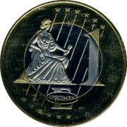 Malta 1 E Jean Parisot de la Valette 2003 UNC X# Pn16 1 E SPECIMEN coin reverse