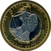 UK 1 E Trial 2003 PRUEBA TRIAL PROBE ESSAI GREAT BRITAIN 2003 coin obverse