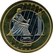 UK 1 E Trial 2003 1 E SPECIMEN coin reverse