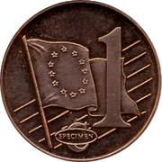 UK 1 ¢ Probe 2002 1 ¢ SPECIMEN coin reverse
