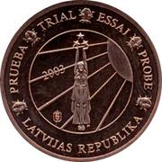 Latvia 1 ¢ Trial Essai 2003 PRUEBA TRIAL ESSAI PROBE LATVIJAS REPUBLIKA 2003 coin obverse