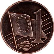 Latvia 1 ¢ Trial Essai 2003 1 ¢ SPECIMEN coin reverse
