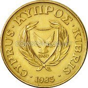 Cyprus 10 Cents 1983 KM# 56.1 Reform Coinage coin obverse