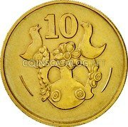 Cyprus 10 Cents 1983 KM# 56.1 Reform Coinage coin reverse