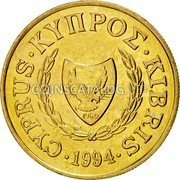 Cyprus 10 Cents 1994 KM# 56.3 Reform Coinage coin obverse
