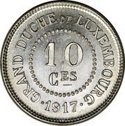 Luxembourg 10 Ces Grand-Duche de Luxembourg 1917  10 CES GRAND DUCHÉ DE LUXEMBOURG •1917• coin reverse