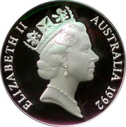 Australia 10 Dollars Emperor Penguin - Piedfort 1992 Piedfort KM# P4 ELIZABETH II AUSTRALIA 1992 RDM coin obverse