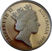 Australia 10 Dollars Numbat. Piedfort 1995 Proof KM# 296a ELIZABETH II AUSTRALIA 1995 RDM coin obverse