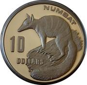 Australia 10 Dollars Numbat. Piedfort 1995 Proof KM# 296a NUMBAT 10 DOLLARS coin reverse