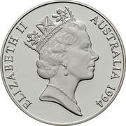 Australia 10 Dollars Wedge-tailed eagle. Piedfort 1994 Proof KM# P6 ELIZABETH II AUSTRALIA 1994 coin obverse