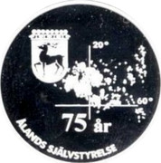Finland 10 Euro 75 Years of Aland Self-Government 1997 X# 6 ÅLANDS SJÄLVSTYRELSE coin reverse