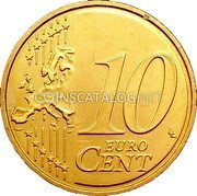 Cyprus 10 Euro Cent 2008 KM# 81 Euro Coinage coin reverse
