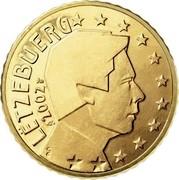 Luxembourg 10 Euro Cent Henri I 2002 (u) Proof KM# 78 LËTZEBUERG 2002 GC coin obverse