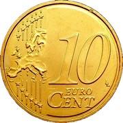 Cyprus 10 Euro Cent Kyrenia ship 2008 KM# 81 10 EURO CENT LL coin reverse