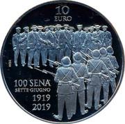 Malta 10 Euro Centenary of the Sette Giugno Riots 2019 10 EURO NGB 100 SENA SETTE GIUGNO 1919 2019 coin reverse