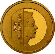 Luxembourg 10 Euro Deer of Orval's Refuge 2009 Proof KM# 110 2009 LËTZEBUERG coin obverse