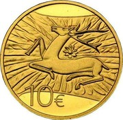 Luxembourg 10 Euro Deer of Orval's Refuge 2009 Proof KM# 110 10€ coin reverse