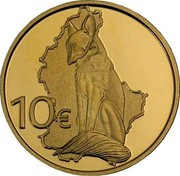 Luxembourg 10 Euro Fox 2011 Proof KM# 122 10€ coin reverse