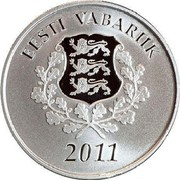 Estonia 10 Euro Joining the European Union - The Future 2011 Proof KM# 71 EESTI VABARIIK 2011 coin obverse
