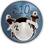 Estonia 10 Euro Joining the European Union - The Future 2011 Proof KM# 71 € 10 coin reverse