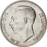 Luxembourg 10 Francs Jean 1974 KM# 57 JEAN GRAND-DUC DE LUXEMBOURG J.N. LEFEVRE coin obverse