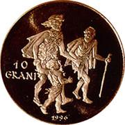 Malta 10 Grani Assistance to the Needy 1996 Proof X# 181 10 GRANI 1990 coin reverse