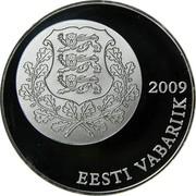 Estonia 10 Krooni Estonian Song and Dance Festivals 2009 Proof KM# 51 2009 EESTI VABARIIK coin obverse