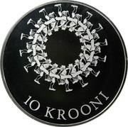 Estonia 10 Krooni Estonian Song and Dance Festivals 2009 Proof KM# 51 10 KROONI coin reverse